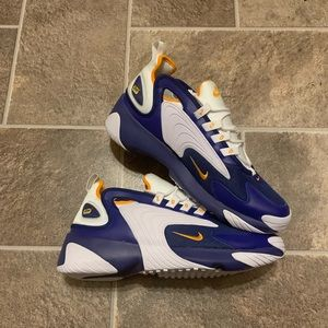 Nike Zoom 2K Blue Orange White Mens Retro Sneakers